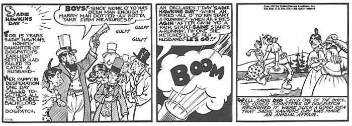 Sadie_Hawkins_Day origin lil abner comic strip