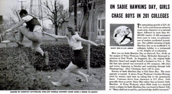 sadie hawkins day life magazine