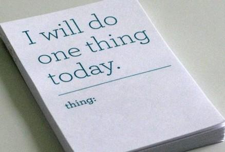 single tasking day